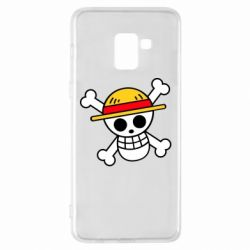 Чохол для Samsung A8+ 2018 Anime logo One Piece skull pirate