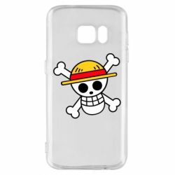Чохол для Samsung S7 Anime logo One Piece skull pirate