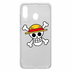 Чохол для Samsung A20 Anime logo One Piece skull pirate