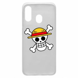 Чохол для Samsung A40 Anime logo One Piece skull pirate