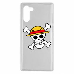 Чохол для Samsung Note 10 Anime logo One Piece skull pirate