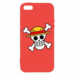 Чохол для iphone 5/5S/SE Anime logo One Piece skull pirate