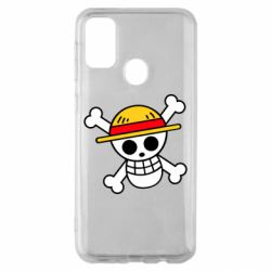 Чохол для Samsung M30s Anime logo One Piece skull pirate