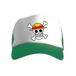 Дитяча кепка-тракер Anime logo One Piece skull pirate