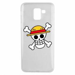 Чохол для Samsung J6 Anime logo One Piece skull pirate