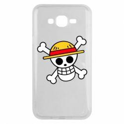 Чохол для Samsung J7 2015 Anime logo One Piece skull pirate