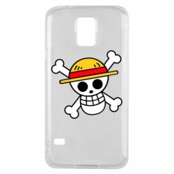 Чохол для Samsung S5 Anime logo One Piece skull pirate