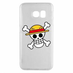 Чохол для Samsung S6 EDGE Anime logo One Piece skull pirate