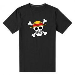 Чоловіча стрейчева футболка Anime logo One Piece skull pirate