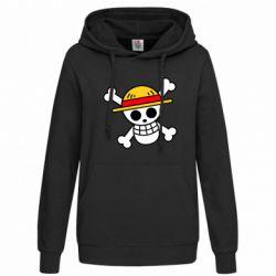 Толстовка жіноча Anime logo One Piece skull pirate