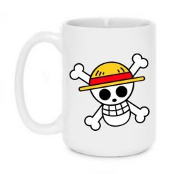 Кружка 420ml Anime logo One Piece skull pirate