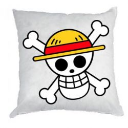 Подушка Anime logo One Piece skull pirate