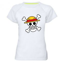 Жіноча спортивна футболка Anime logo One Piece skull pirate