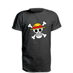 Подовжена футболка Anime logo One Piece skull pirate
