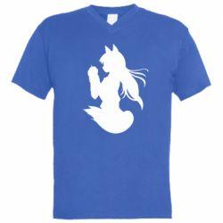 Мужская футболка  с V-образным вырезом Anime Spice and Wolf