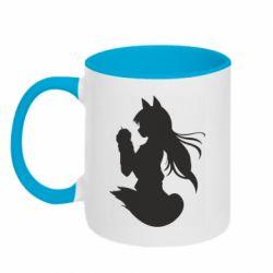 Кружка двухцветная 320ml Anime Spice and Wolf