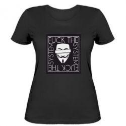 Жіноча футболка Anonymous