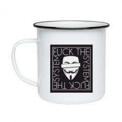 Кружка емальована Anonymous
