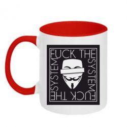 Кружка двоколірна 320ml Anonymous