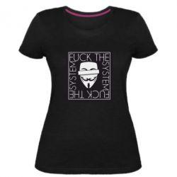 Жіноча стрейчева футболка Anonymous