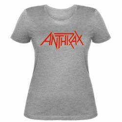 Жіноча футболка Anthrax red logo