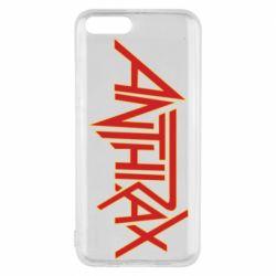 Чехол для Xiaomi Mi6 Anthrax red logo