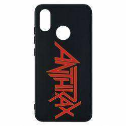 Чехол для Xiaomi Mi8 Anthrax red logo
