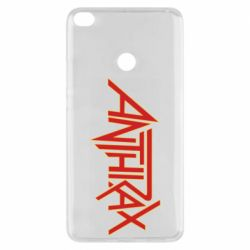 Чехол для Xiaomi Mi Max 2 Anthrax red logo
