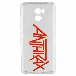 Чехол для Xiaomi Redmi 4 Anthrax red logo