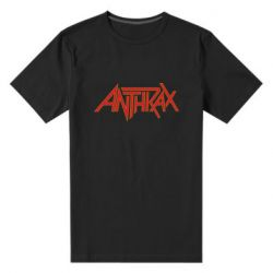 Мужская стрейчевая футболка Anthrax red logo