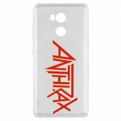 Чехол для Xiaomi Redmi 4 Pro/Prime Anthrax red logo