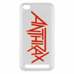 Чехол для Xiaomi Redmi 5A Anthrax red logo