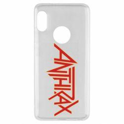 Чехол для Xiaomi Redmi Note 5 Anthrax red logo
