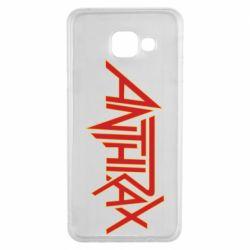 Чохол для Samsung A3 2016 Anthrax red logo