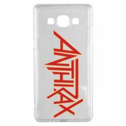 Чохол для Samsung A5 2015 Anthrax red logo