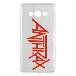 Чехол для Samsung A7 2015 Anthrax red logo