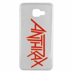 Чохол для Samsung A7 2016 Anthrax red logo
