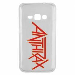 Чохол для Samsung J1 2016 Anthrax red logo