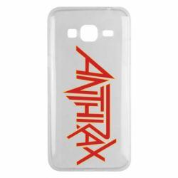 Чохол для Samsung J3 2016 Anthrax red logo