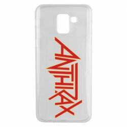 Чохол для Samsung J6 Anthrax red logo
