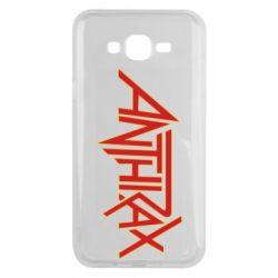 Чохол для Samsung J7 2015 Anthrax red logo