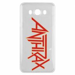 Чохол для Samsung J7 2016 Anthrax red logo