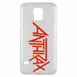 Чохол для Samsung S5 Anthrax red logo