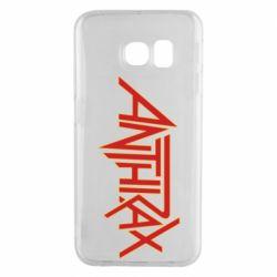 Чохол для Samsung S6 EDGE Anthrax red logo
