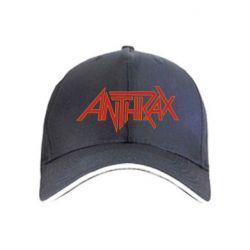 Кепка Anthrax red logo