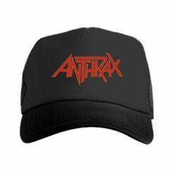 Кепка-тракер Anthrax red logo