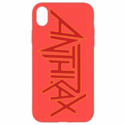 Чехол для iPhone XR Anthrax red logo