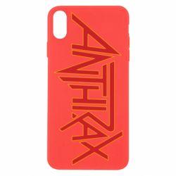 Чохол для iPhone Xs Max Anthrax red logo
