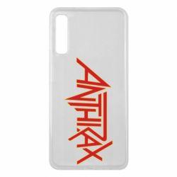 Чехол для Samsung A7 2018 Anthrax red logo