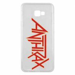 Чохол для Samsung J4 Plus 2018 Anthrax red logo